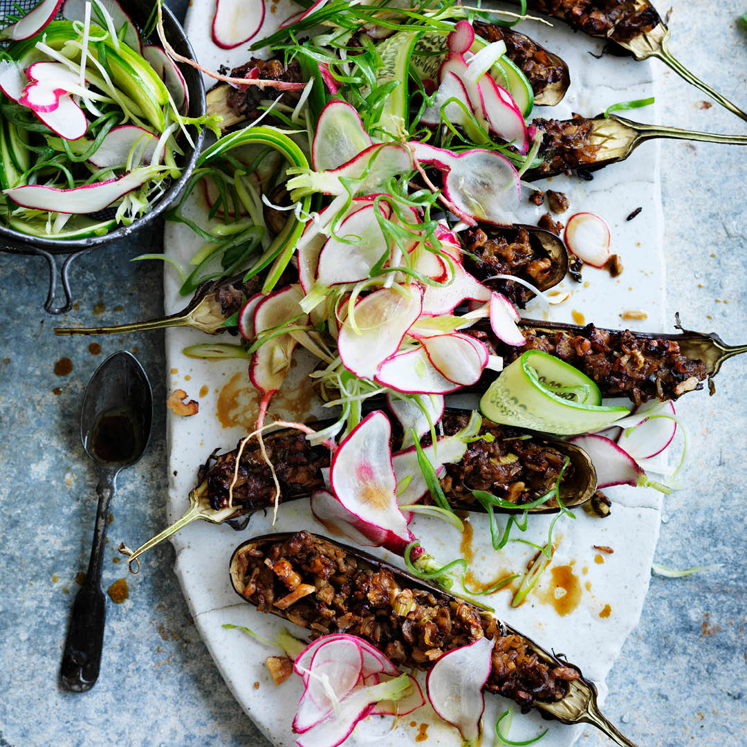 CH4622_Easter Recipes_Walnut miso filled eggplant