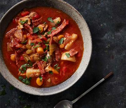 Chorizo and Chicken soup 404 x 346